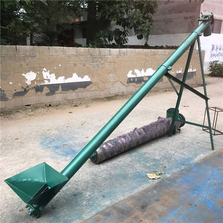 绿色环保鸡鸭饲料装仓垂直管式螺旋提升机 宏瑞牌大倾角水泥粉螺旋上料机