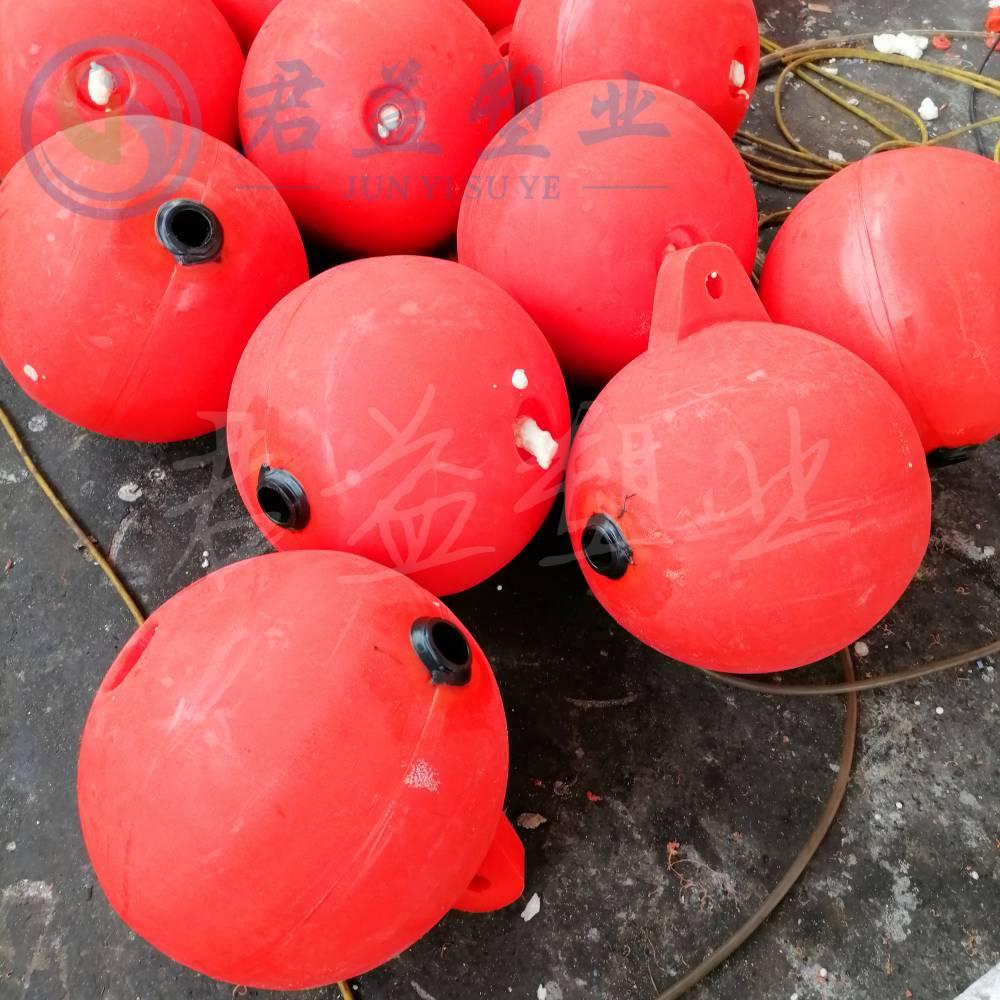 海上PE塑料浮球 直径1000mm管道隔离浮球
