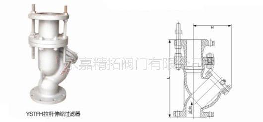 YSTFH-16C Y型拉杆伸缩过滤器 DN80 永嘉精拓阀门