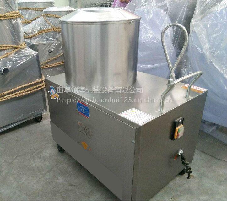 洋芋马铃薯去皮机 家用350圆桶式土豆去皮机