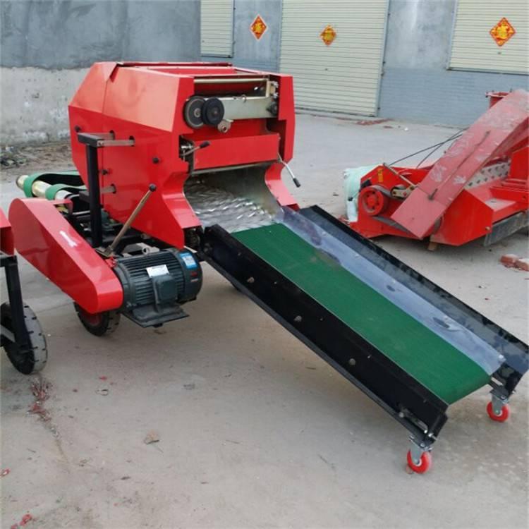 邦腾秸秆饲料打捆机 牧草粉碎包膜机 青贮打捆包膜机