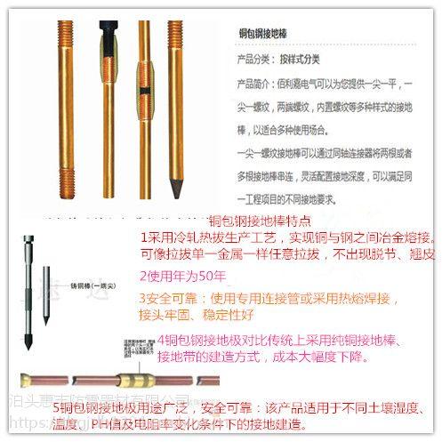 岳阳惠丰铜包钢点接地棒 铜覆钢接地棒 规格15720485787