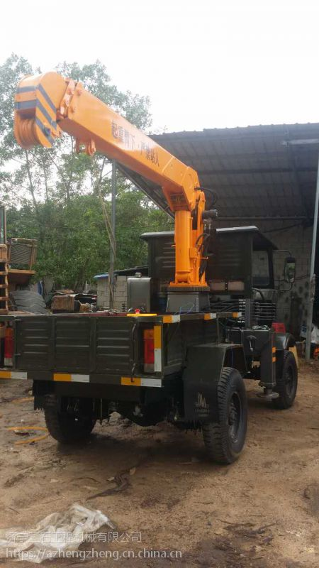 可吊重3吨油电两用液压起重机 小型三轮吊车现货