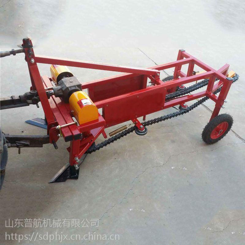 普航大型花生收获机收割4行2垄铲果机有视频全自动花生挖掘机厂家