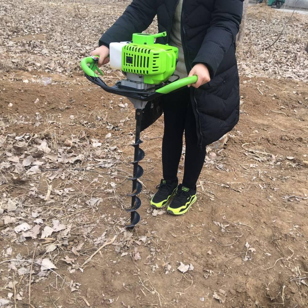 邯郸市大面积植树旋洞机 启航牌水泥电线杆打孔机 大棚埋桩挖坑机生产厂家