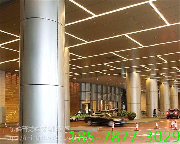 室内圆弧包柱铝单板生产工艺,弧形氟碳包柱铝单板价格。