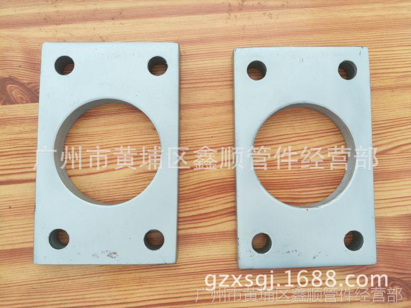 广州供应客户来图定做不锈钢外方内圆形法兰,广州市鑫顺管件