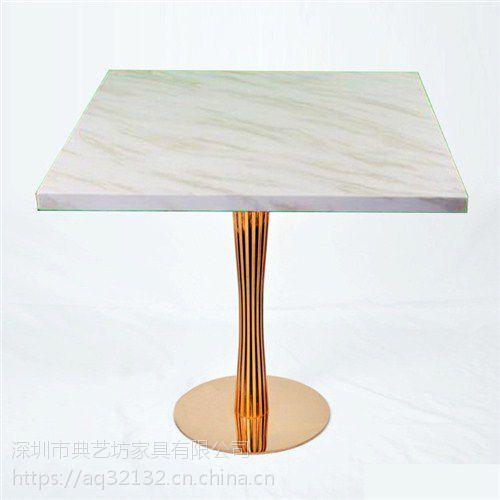 港式茶餐厅餐厅桌子椅子大理石 卡座沙发桌子四人位组合效果图