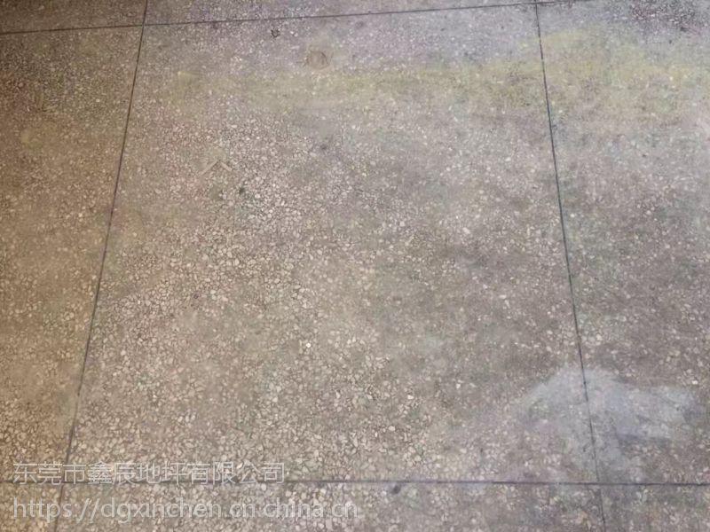 深圳南山水磨石地面起灰尘处理=宝安旧地坪抛光=水磨石固化地坪、鑫辰洪荒之力
