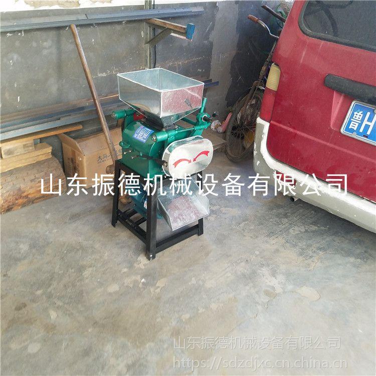 家用型粮食电动挤扁机 多功能粮食破碎机 振德牌 对辊式挤扁机