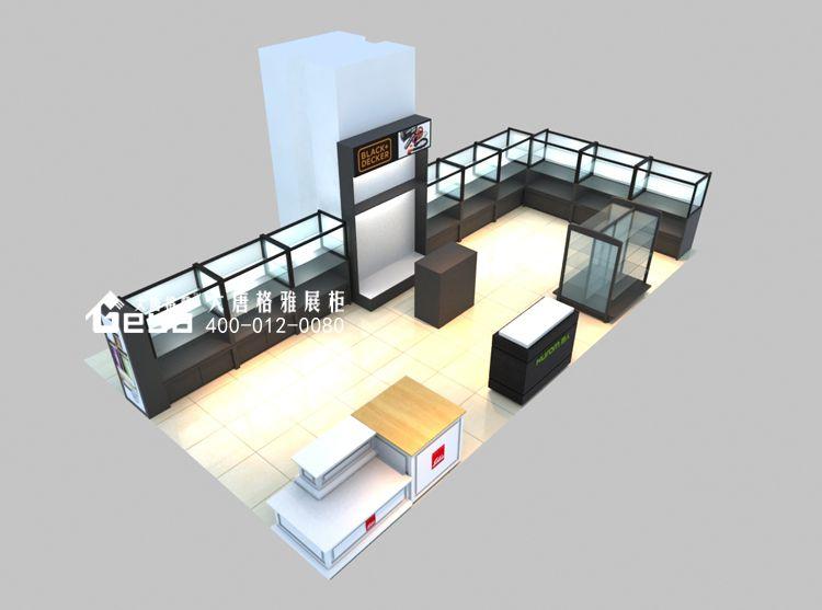 江宁万达乐扣移位-玻璃展柜-木质展柜-南京大唐格雅展柜厂