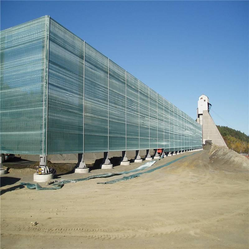 石料厂防风抑尘网 料场挡尘板 防风固沙网