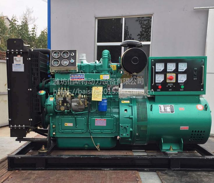 潍柴厂家50kw千瓦柴油发电机组 电启动三相纯铜无刷电机