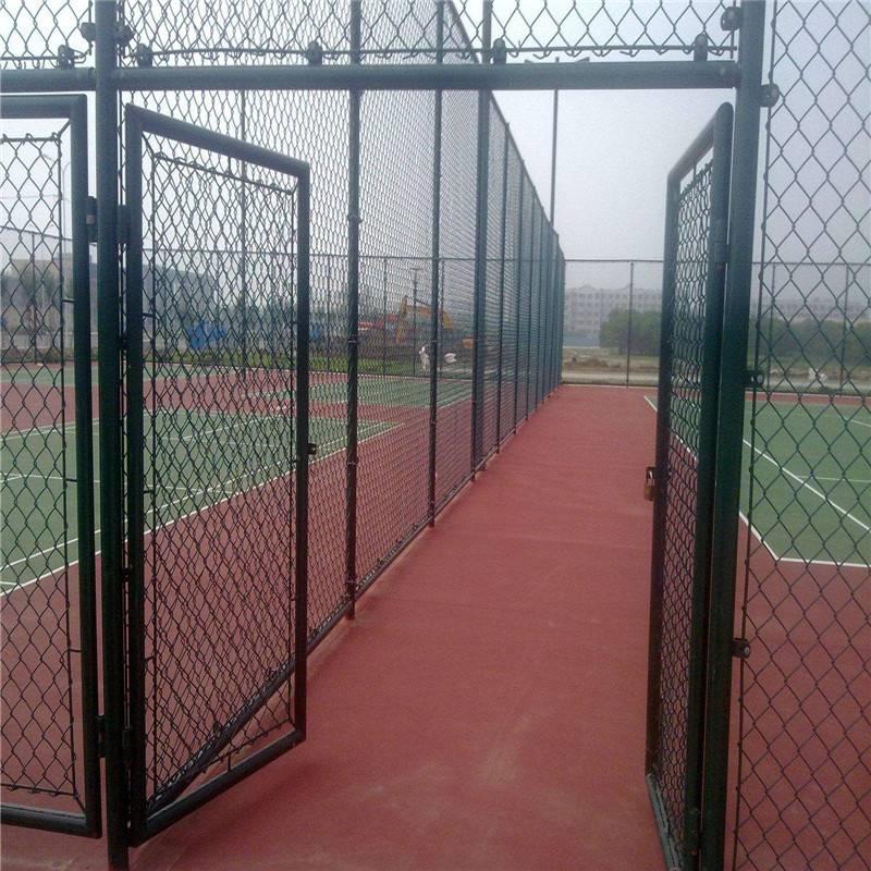 勾花网球场护栏 学校操场围栏网 球场网式护栏安装