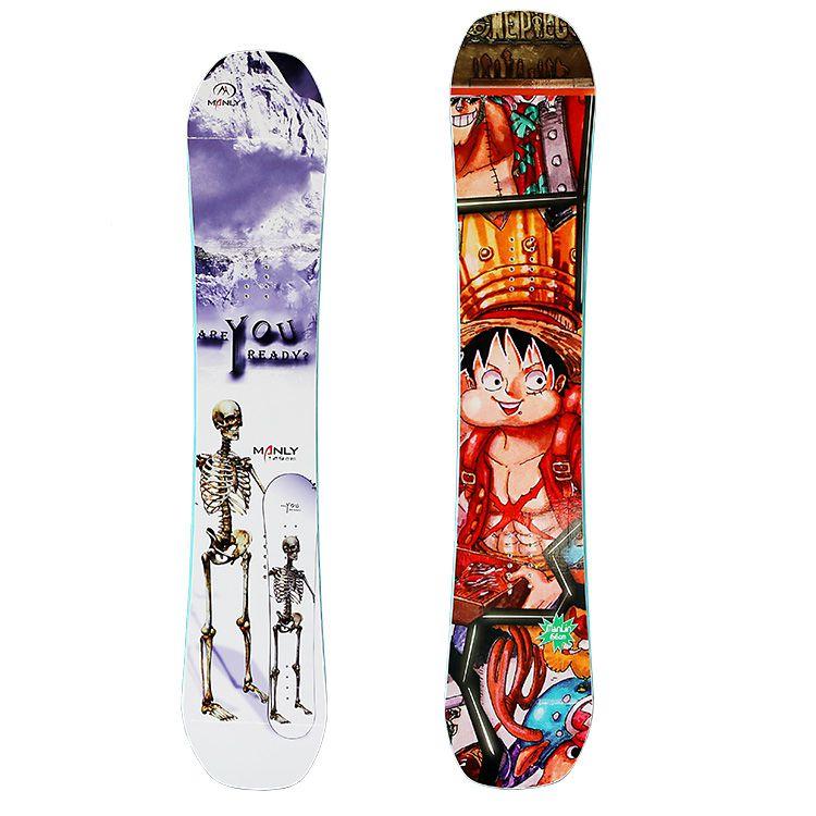 曼琳manlin厂家直销全白杨木芯滑板 滑雪单板