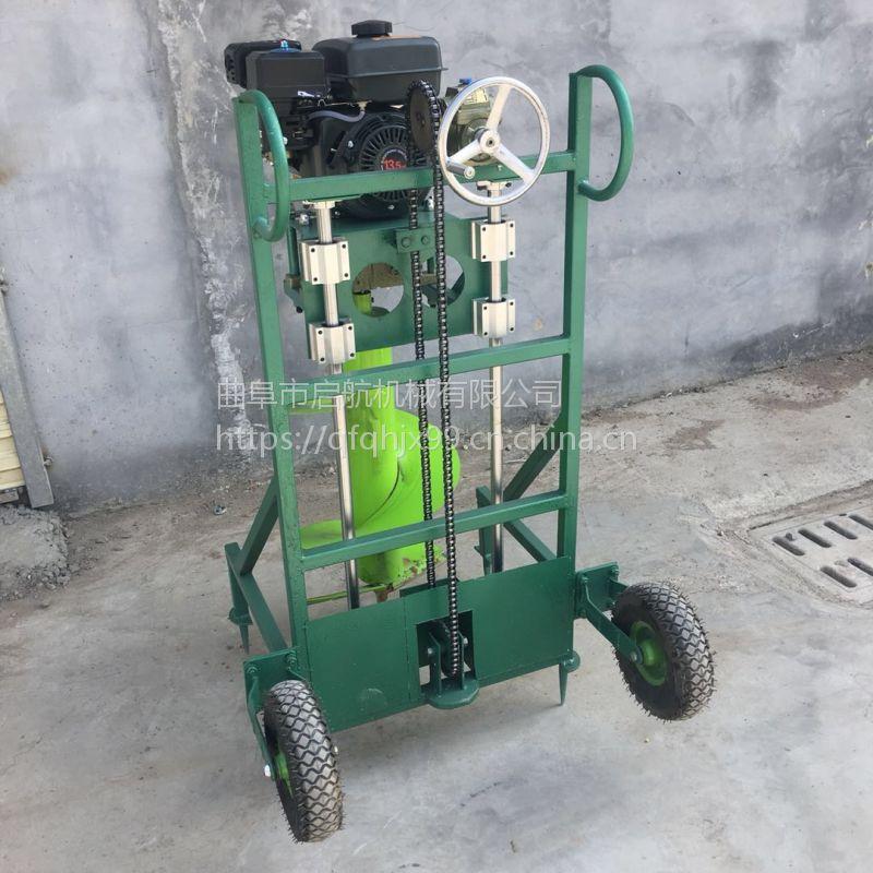 螺旋打窝机厂家 广东手推植树挖坑机 立柱刨窝机哪里有卖