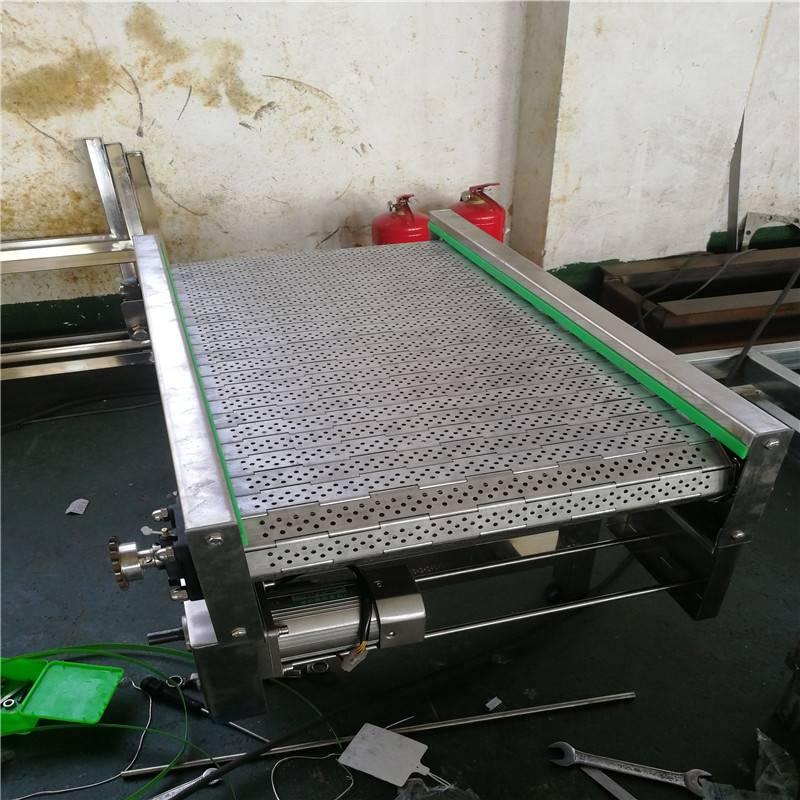 齿型冲孔链板挡板传送机流水线304不锈钢输送机自动化输送机设备德隆非标定制