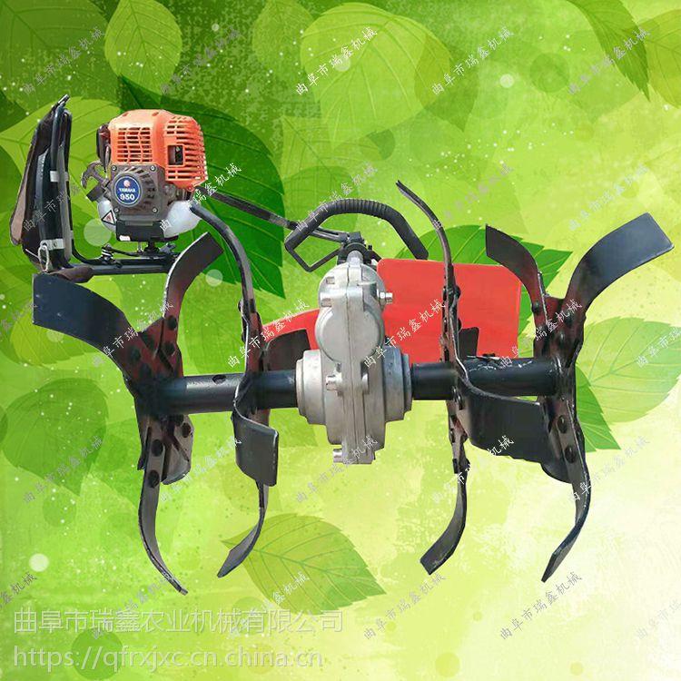 大棚菜地松土除草机 小型背负式除草旋耕机 绿篱刀割草机