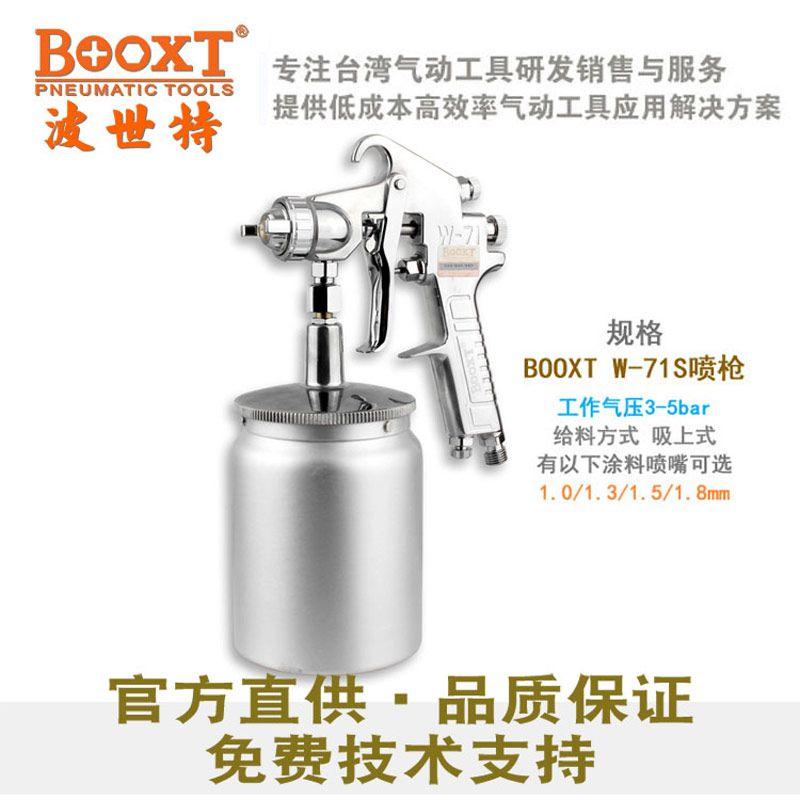 BOOXT波世特BX-W-71S气动喷枪气动喷漆枪高雾化下壶喷漆枪家具油漆喷枪