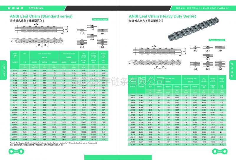 中置轴轿运车链条 轿车运输车半挂车板式链条厂家