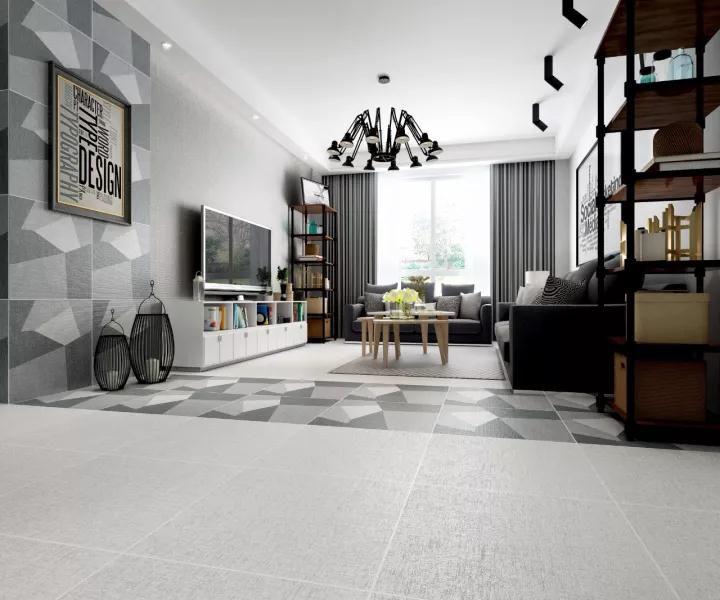 仿古砖的装修风格,灰色格调空间