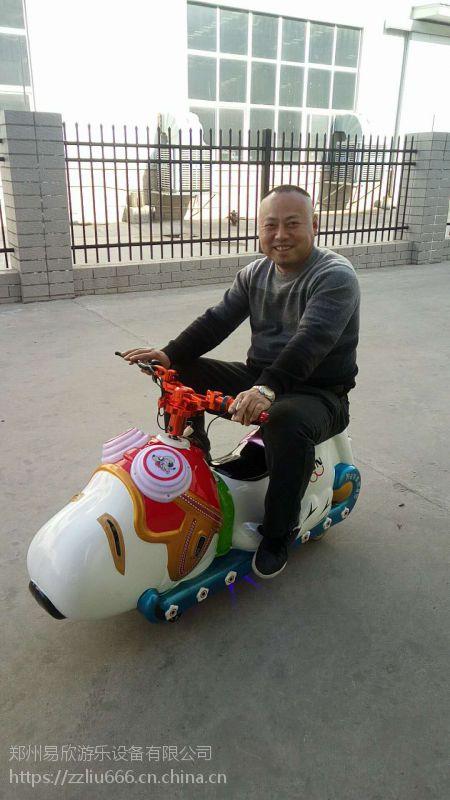 斑点狗电动车广场电瓶车儿童玩具车亲子互动车