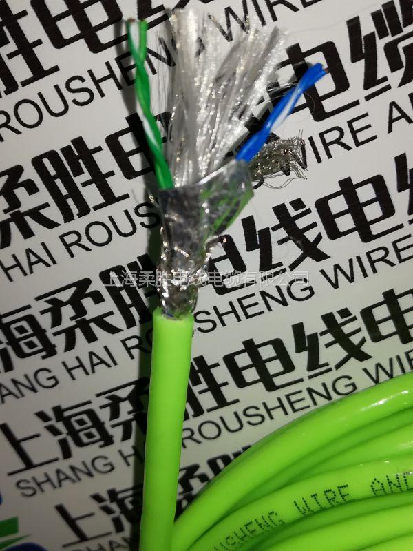 PUR聚氨酯拖链网线,耐磨抗拉附近高柔性8芯双绞耐高温拖链网线