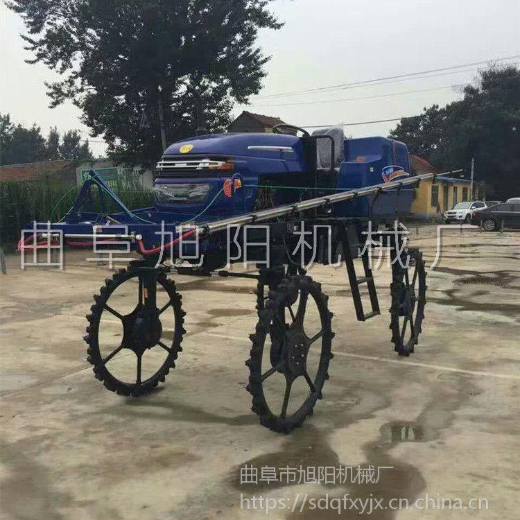 旭阳直销52马力柴油四轮喷药机多缸自走打药车水稻田专用喷雾机