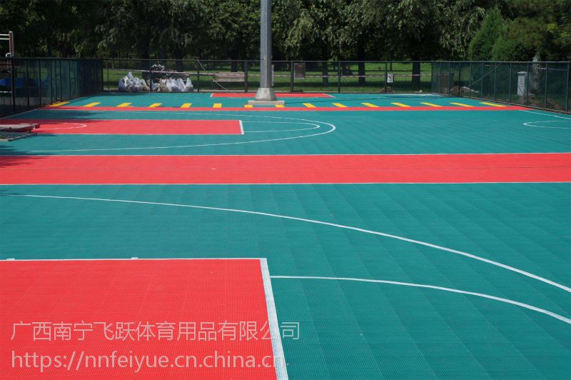 崇左市悬浮拼装地板 幼儿园拼装地板定做 飞跃体育厂家