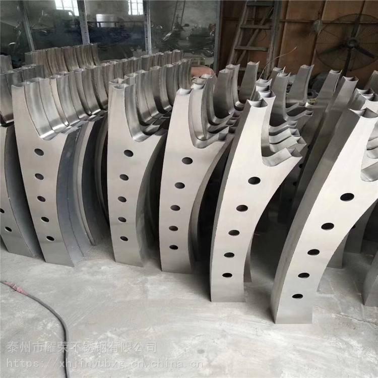 金聚进 商场不锈钢楼梯扶手 工程立柱 大刀片立柱API32 品质保证