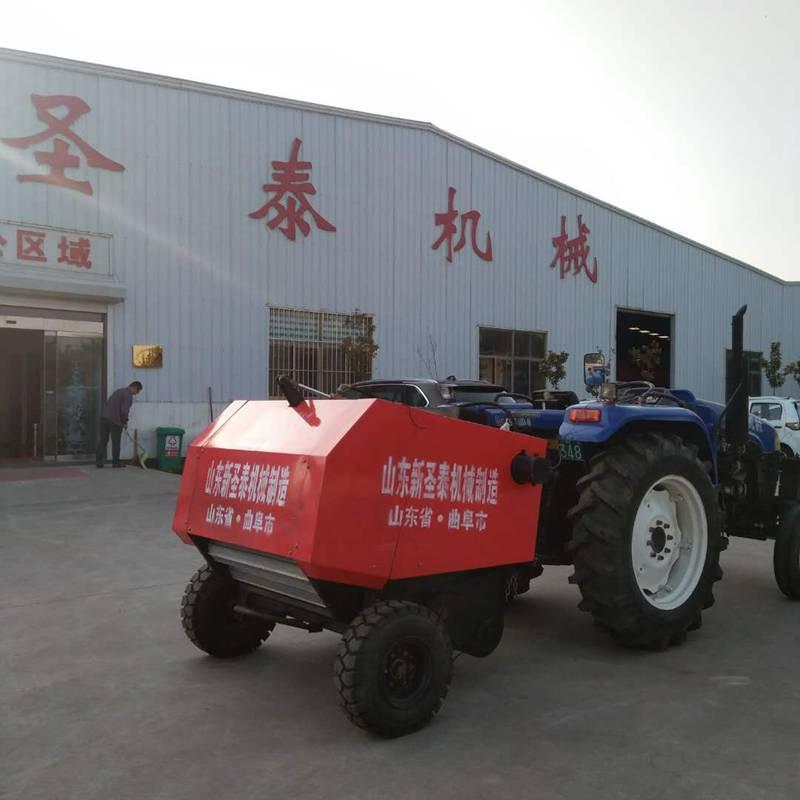圆形秸秆打捆机 稻草麦草收集打捆机 自动青储牧草打捆机 打包机
