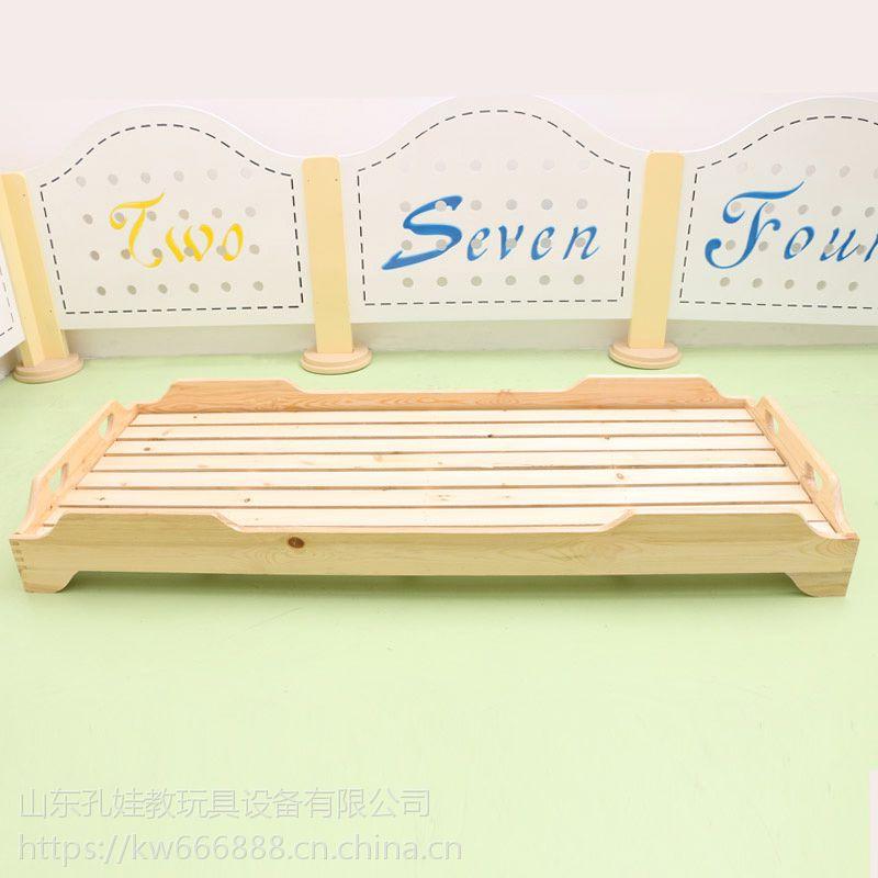 山东孔娃供应儿童午睡床 实木简约现代可叠放 幼儿园专用儿童床