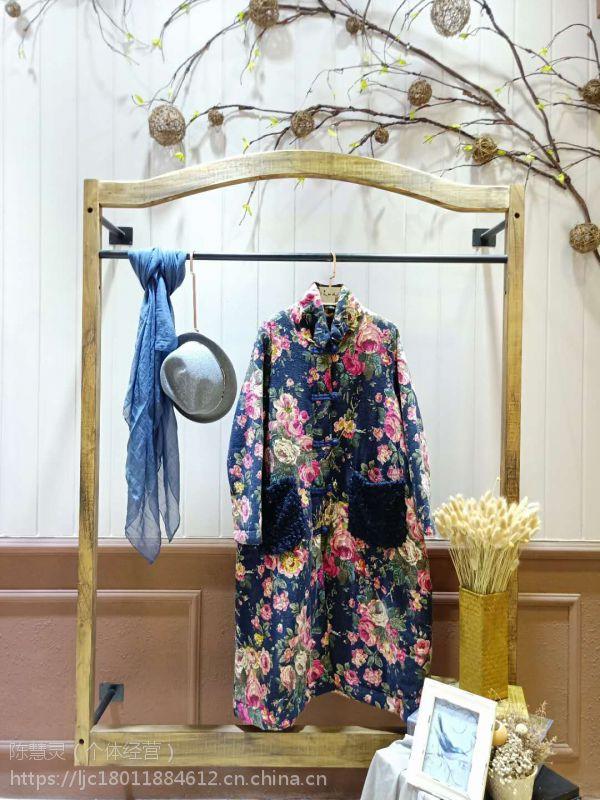杭州民族风品牌吉丘古儿女装折扣一手货源批发