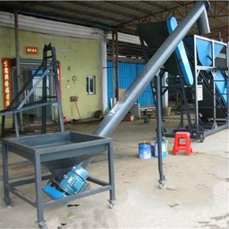 粮食用小型圆管提升机 兴运316材质食品级螺旋上料机