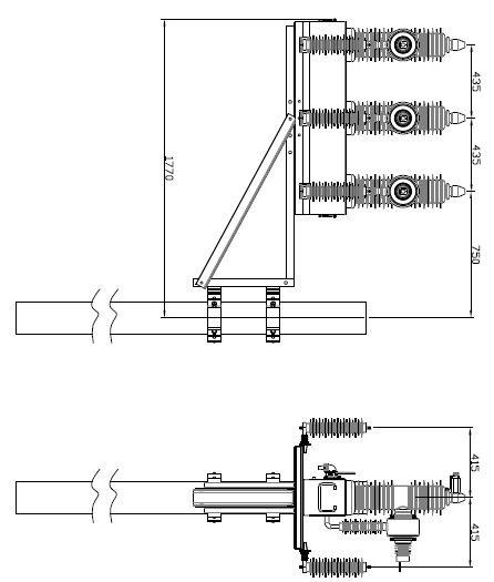 TKRCW-40.5單柱安裝