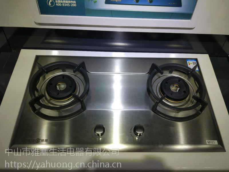 雅凰QS21不锈钢煤气炉双灶燃气灶嵌入式天然气液化气灶家用灶具猛火