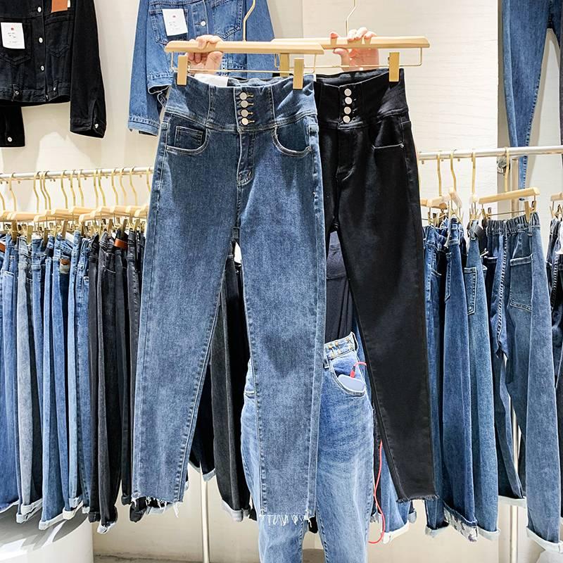 低价尾货牛仔裤批发集市热卖厂家直销大量库存牛仔裤5元牛仔裤批发