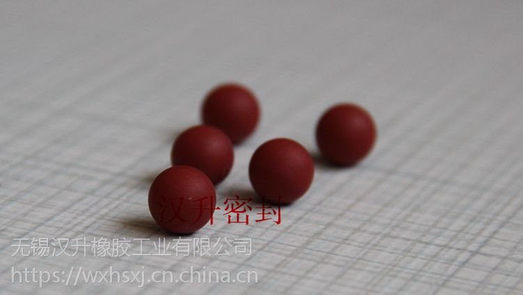 进口台湾橡胶球 汉升氟胶水磨无痕橡胶球10.7mm耐高温200度~-40度 弹力高