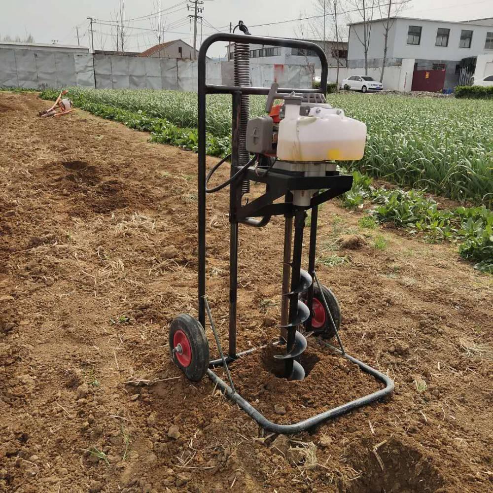 四冲程植树挖坑机 手推式植树钻地机 水泥杆挖坑机
