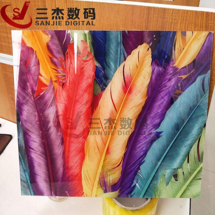 亚克力板工艺品uv平板打印机徐州背景墙3d打印机木塑板uv平板彩印机