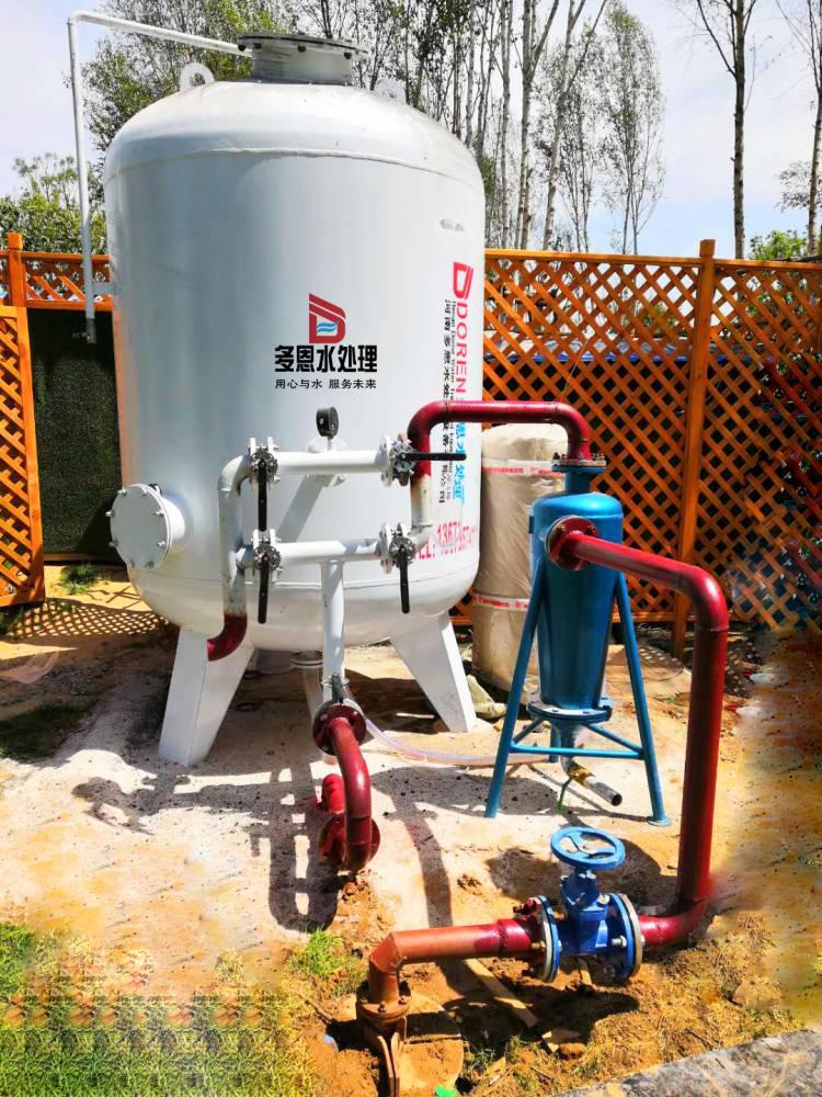 上海打的深井水水黄浑浊怎么办 井水除铁除锰过滤器彻底清除锰砂过滤器专业水处理厂家