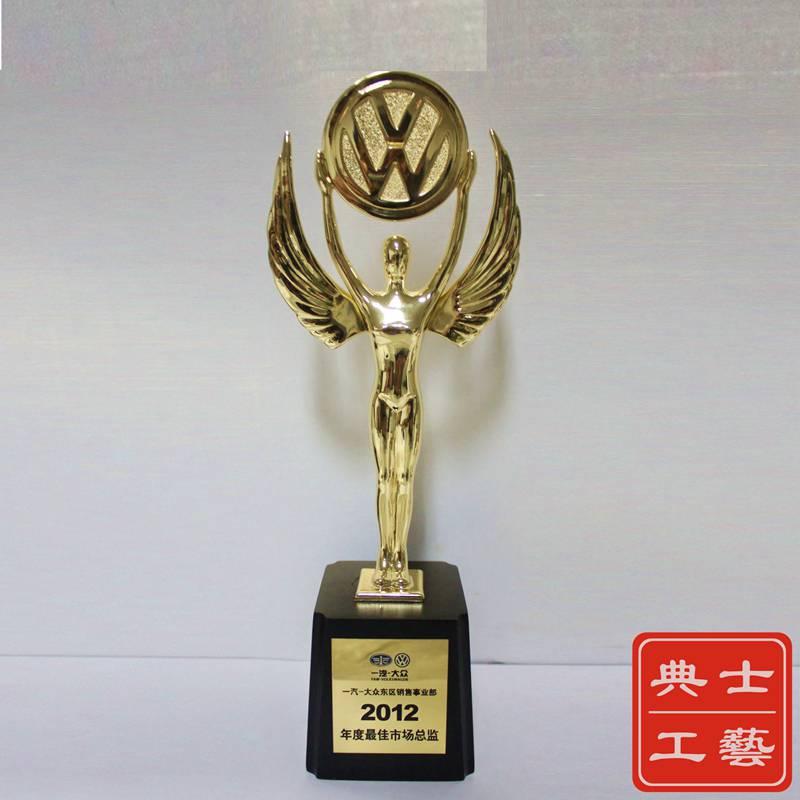 金牛奖杯,牛气冲天奖杯,品牌logo造型奖杯定制,颁奖活动礼品,会议纪念品制作