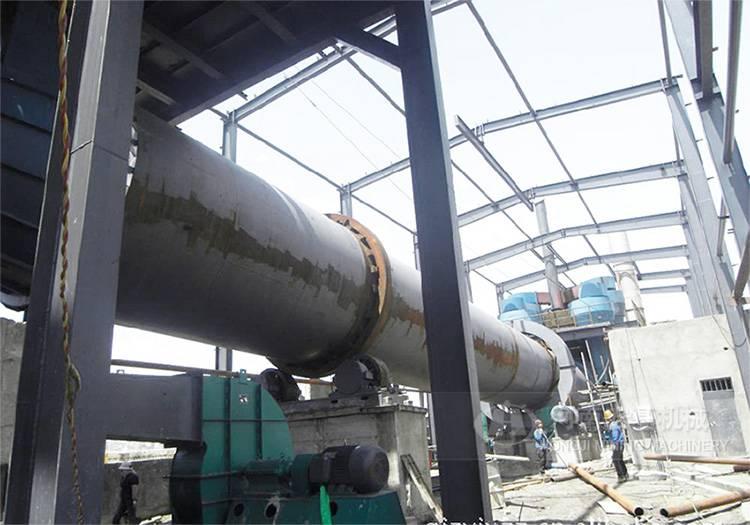 烧石灰视频,日产100吨环保型石灰窑现场