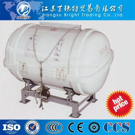 生产出售安全气胀玻璃钢救生筏存放筒 质保一年