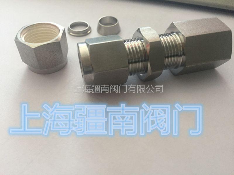 卡套面板固定接头制造供应,1/8-1/8FNPT穿板接头不锈钢316L材质