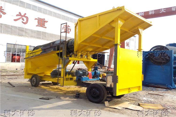 陆地选沙金淘金车 移动式滚筒淘金设备 厂家生产淘金机