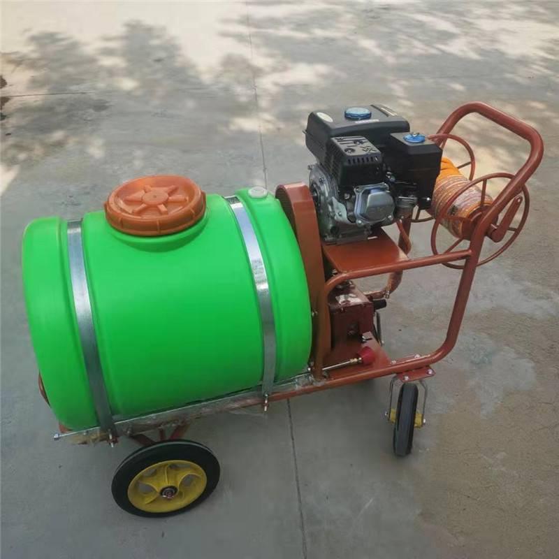 手推式机动喷雾器 启航牌大棚果园拉管式打药机 湖北水田拉管式打药机