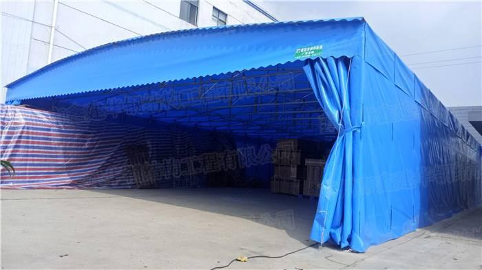 北京鑫元美华伸缩推拉雨棚布电动雨蓬大型仓库蓬户外遮阳棚简易停车篷大排档帐篷厂家
