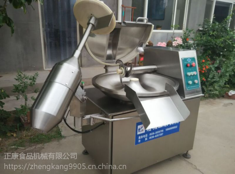 诸城正康食品机械供应ZB-2000转速可调 带变频 大型斩拌机 肉类斩拌设备