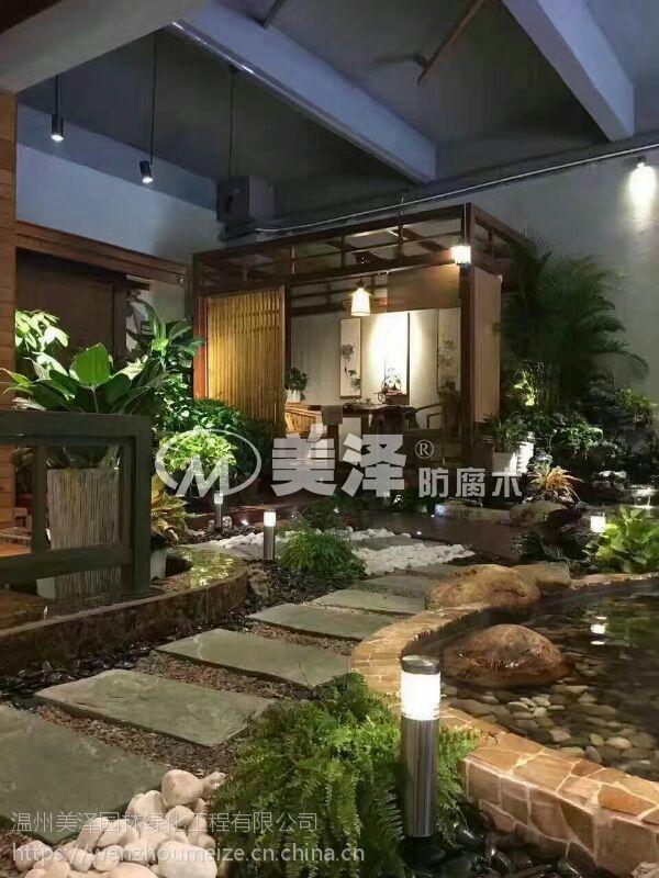防腐私家花园供应别墅架效果图木廊别墅庭院设装修中式花园简效果图图片
